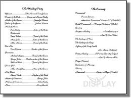 wedding church program templates best photos of layout of church programs printable church