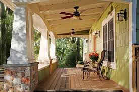 Craftsman Ceiling Fan by Craftsman Ceiling Fan Porch Craftsman With Wood Deck Arts And