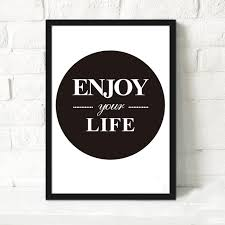 online shop inspirational quote enjoy your life canvas art print