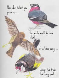 birds talent quote somber scribbler