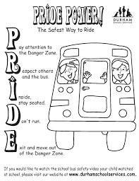 pride power coloring sheet bus safety kid zone http