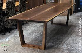Black Walnut Table Top by Dining Table Live Edge Table Top With Bark In Solid Walnut