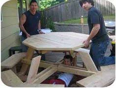 Woodworking Plans For Octagon Picnic Table by Really Nice Looking Octagon Table You Can Make Yourself Www