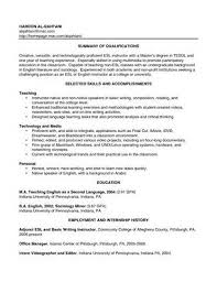 English Teacher Sample Resume by Ideas Collection Sample Teacher Resume No Experience About