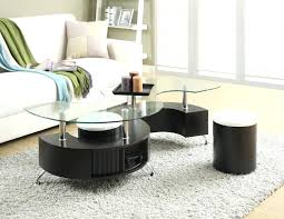 coffee table round coffee table with storage and seating ottoman