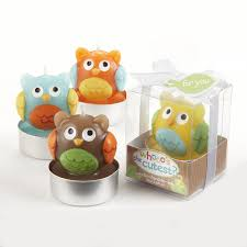 baby shower return gift ideas kate aspen set of 4 assorted candle whooo s the