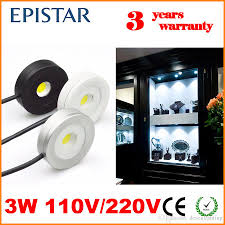 2018 3w dimmable led under cabinet light puck light ultra bright