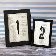 themed table numbers harry potter wedding wedding table numbers choose your quantity