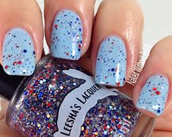glitter polish red white and blue etsy