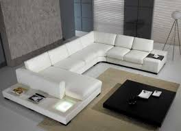 White Sectional Sofa Large Leather White Sectional Sofa With Chaise Indoor Ideas