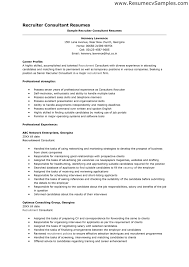 Technical Consultant Resume Sample by Download Sample Resume Recruiter Haadyaooverbayresort Com