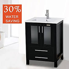 Modern Bathroom Cabinets Vanities Eclife 24 5 Modern Bathroom Vanity Sink Combo With Overflow