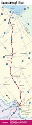 map us highway route 66 route 66 through illinois road trip usa