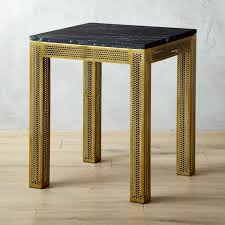Marble Top Sofa Table by Perforated Black Marble Side Table Cb2