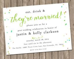 post wedding reception invitations post wedding brunch etsy