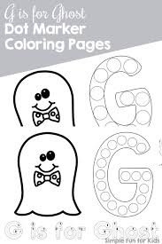 ghost dot marker coloring pages printable simple fun