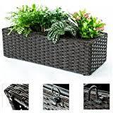Black Planter Boxes by Amazon Com Black Planters Pots Planters U0026 Container
