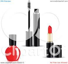 clipart nail polish mascara and lipstick royalty free vector