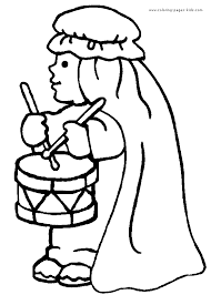 drummer boy christmas coloring pages 1