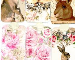 shabby chic rabbit ring holder images French rabbit etsy jpg