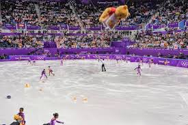 yuzuru hanyu commands the stage nathan chen falls off it the