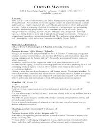 executive assistant resume exles resumes for executive assistants sle administrative assistant
