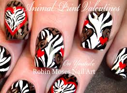 robin moses nail art animal print hearts