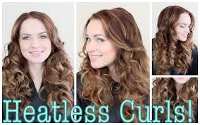 Easy Hairstyles Wavy Hair by Easy Heatless Curls Tutorial Youtube