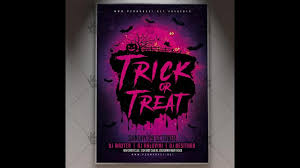 trick or treat night halloween flyer psd template youtube