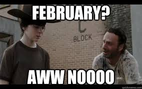 Walking Dead Season 3 Memes - february aww noooo walking dead season 3 mid season finale