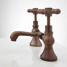 Bridge Bathroom Faucet Monroe Bridge Bathroom Faucet Cross Handles Overflow Oil