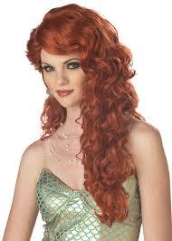 amazon com california costumes women u0027s mermaid wig auburn one