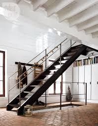 Industrial Stairs Design Herringbone Brick Floors Herringbone Bricks And Industrial