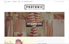photonic photography blogger template high quality free blogger