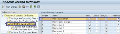 controlling definition how to maintain versions in sap controlling sap training tutorials