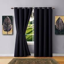 warm home designs black blackout curtains valance scarves tie