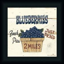 blueberries just picked by david carter brown art print framed