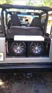 jeep wrangler speaker box jeep wrangler with costom subwoofer and speakers