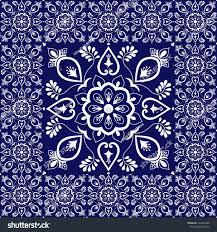 Tile Floor In Spanish by Retro Tiles Floor Flowers Pattern Vector Stock Vector 722862406