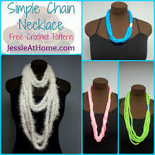 free necklace pattern images Simple chain stitch necklace free crochet pattern jessie at home jpg