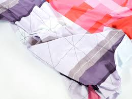 buy the hay colour block bed linen red at nest co uk