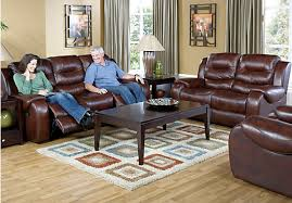 Rooms To Go Living Room Furniture by Verano Burgundy 5pc Classic Living Room Leather Living Rooms Red