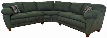sage green fabric modern sectional sofa w wooden legs