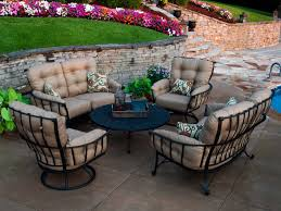 Wrought Iron Swivel Patio Chairs by Meadowcraft Vinings Wrought Iron Swivel Rocker Lounge Chair