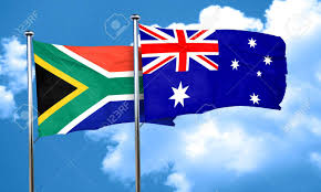Australia Flags South Africa Flag With Australia Flag 3d Rendering Stock Photo