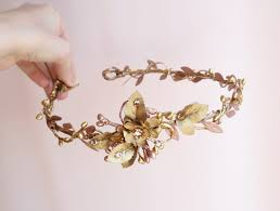 gold hair accessories rosetti gold bronze bridal headband with swarovski crystals