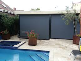 Waterproof Blinds Track Guided Blind Systems Outdoor Blinds