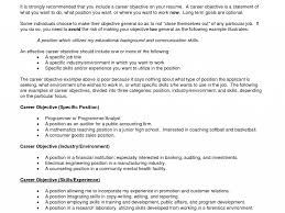 How To Make Career Objective In Resume Download Career Objective Statements For Resume