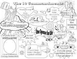 f project for awesome free printable ten commandments coloring