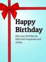 happy birthday ribbon ribbon decorated birthday card birthday greeting cards by davia